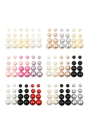 Riah Fashion 12 Pair Pearl Earring Assorted Color In Set - Product Mini Image