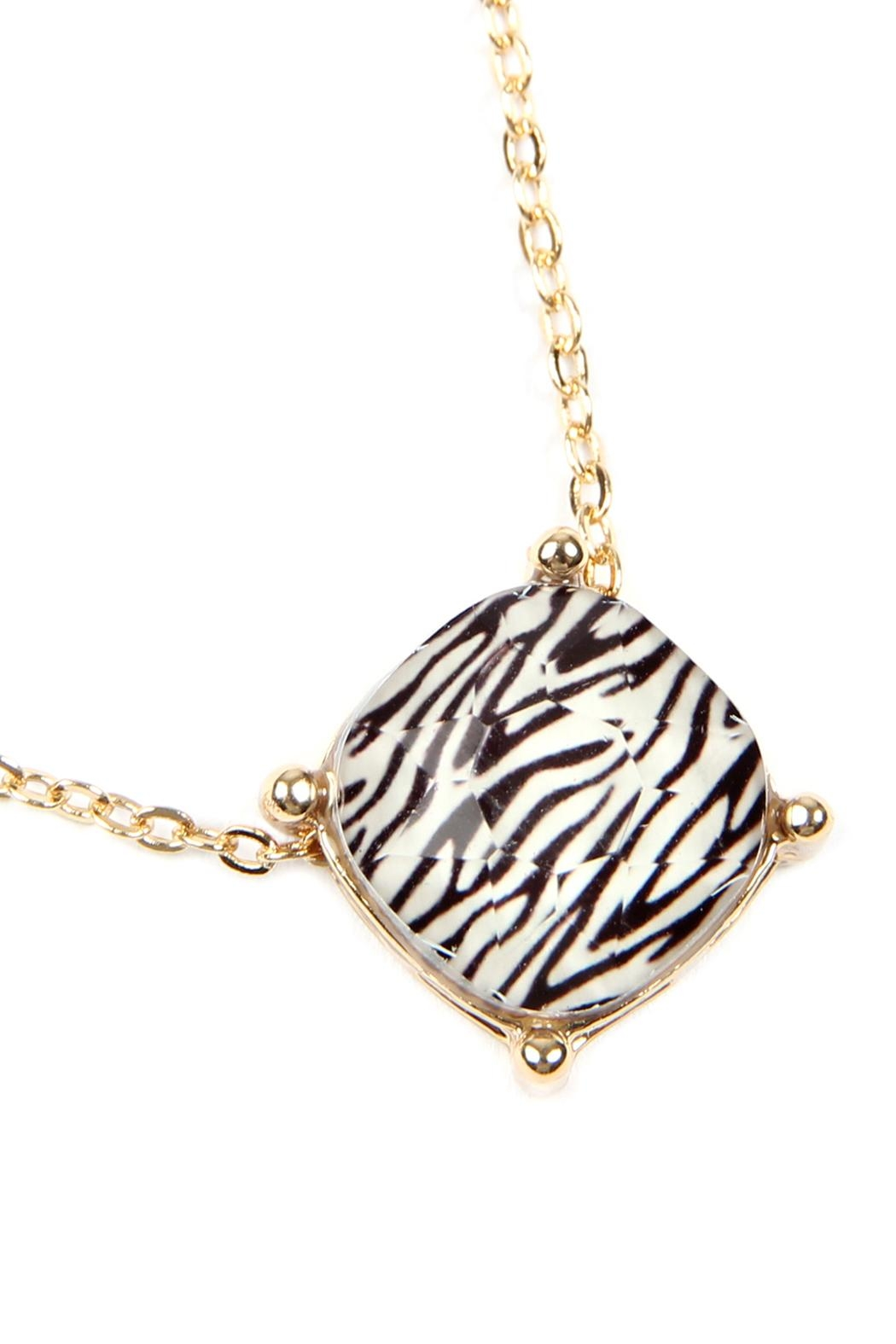Riah Fashion 12mm Cushion-Cut Charm-Necklace - Front Full Image