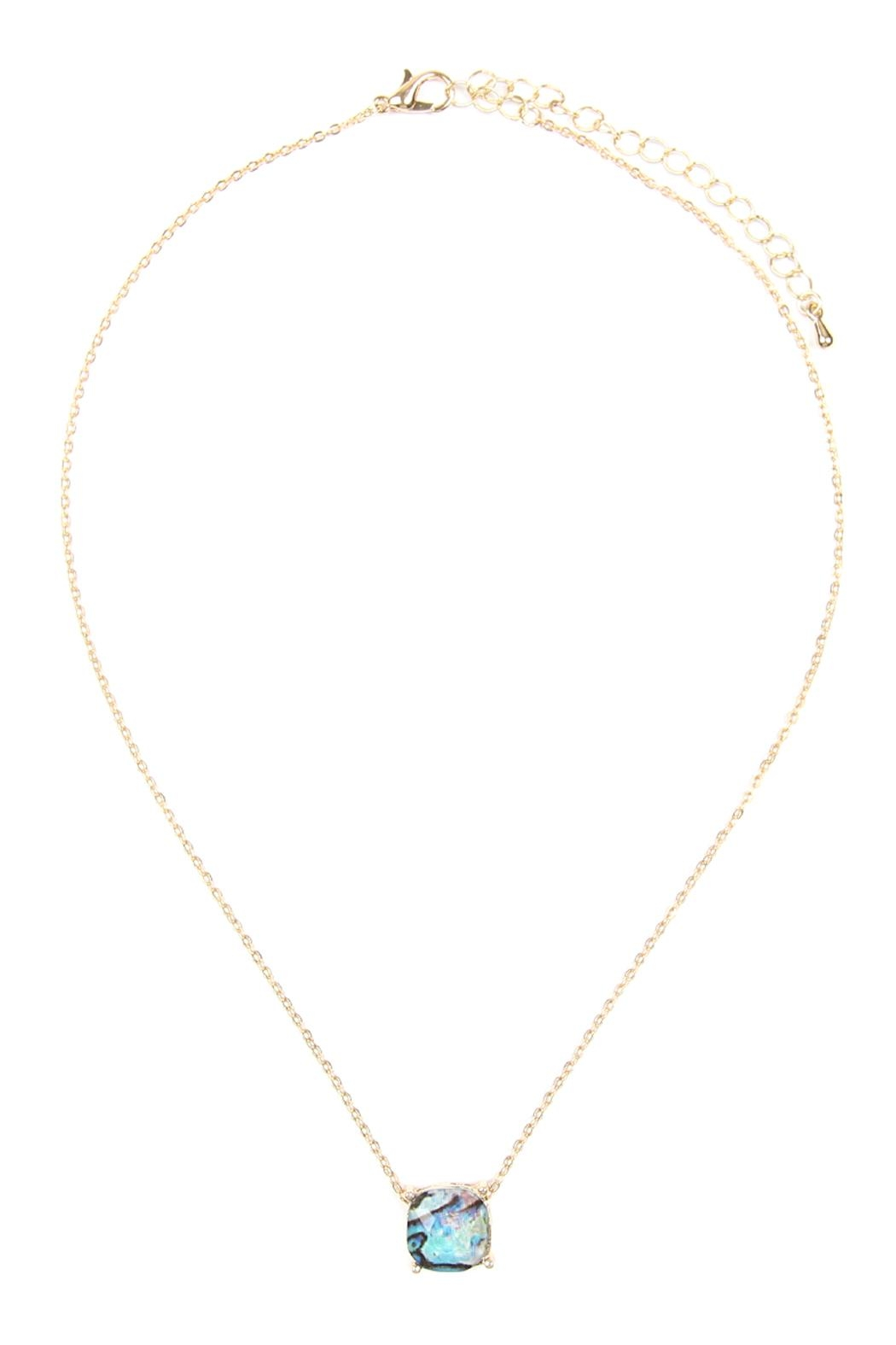 Riah Fashion 12mm Cushion-Cut Charm-Necklace - Front Cropped Image