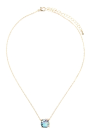 Riah Fashion 12mm Cushion-Cut Charm-Necklace - Front cropped