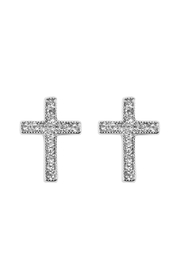 Riah Fashion 15mm-Cross Stud-Earrings - Product Mini Image