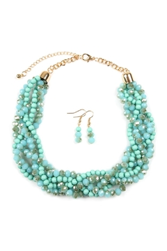 Riah Fashion 18-Inch Braided-Glass-Bead Statement-Necklace - Product List Image