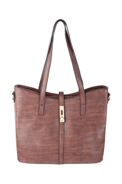 Riah Fashion 2-In-1-Leather-Textured-Fashion-Tote-Bag,-Cross-Body-Bag - Alternate List Image