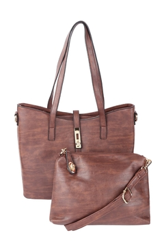 Riah Fashion 2-In-1-Leather-Textured-Fashion-Tote-Bag,-Cross-Body-Bag - Product List Image