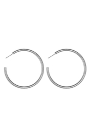 Riah Fashion 2-Inch-'C'-Pipe Satin Finish-Hoop-Earrings - Product Mini Image