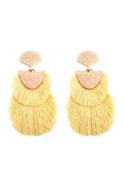 Riah Fashion 2 Layer Fringed-Thread-Drop-Earrings - Product Mini Image