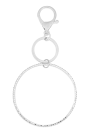 Riah Fashion 2-Line-Bangle-Keychain - Front cropped