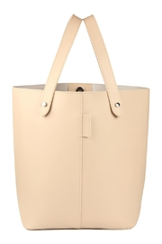 Riah Fashion 2 Way Strap Handle Tote Leather Bag With Pouch Set - Front full body