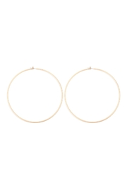 Riah Fashion 2mm-Wire-100mm-Hoop - Front cropped
