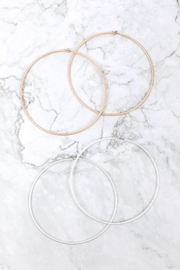 Riah Fashion 2mm-Wire-100mm-Hoop - Side cropped
