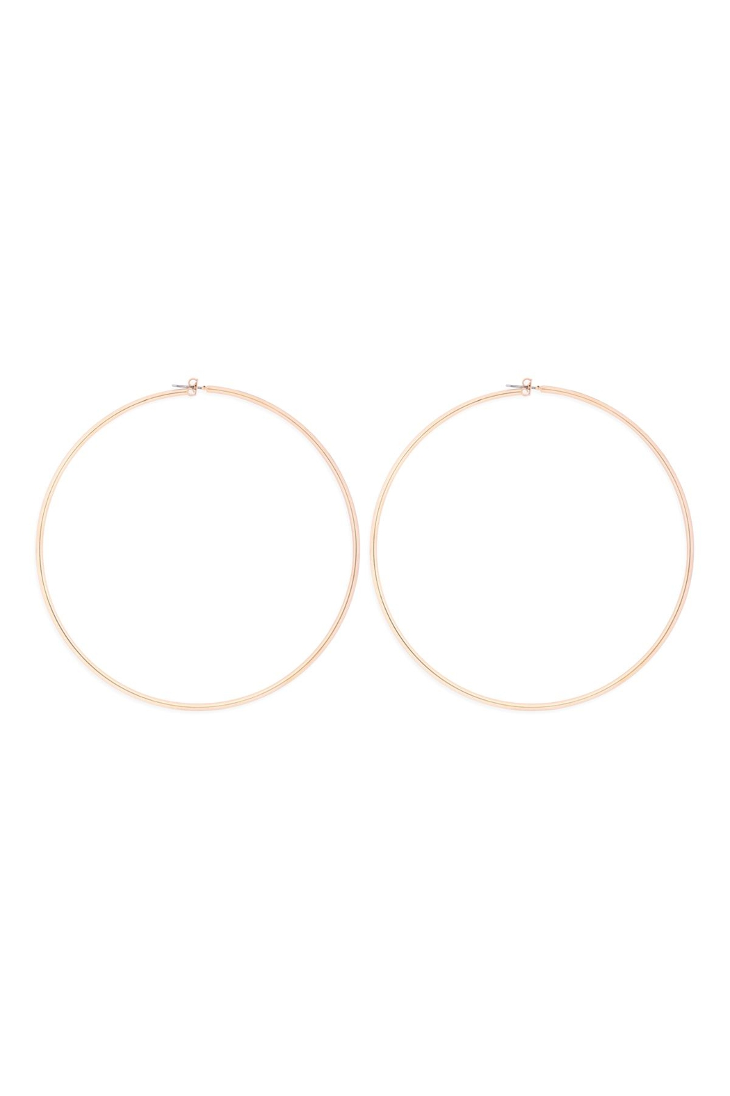 Riah Fashion 2mm-Wire-100mm-Hoop - Front Cropped Image