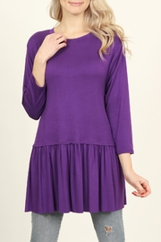 Riah Fashion 3/4 Sleeve Peplum-Top - Product Mini Image