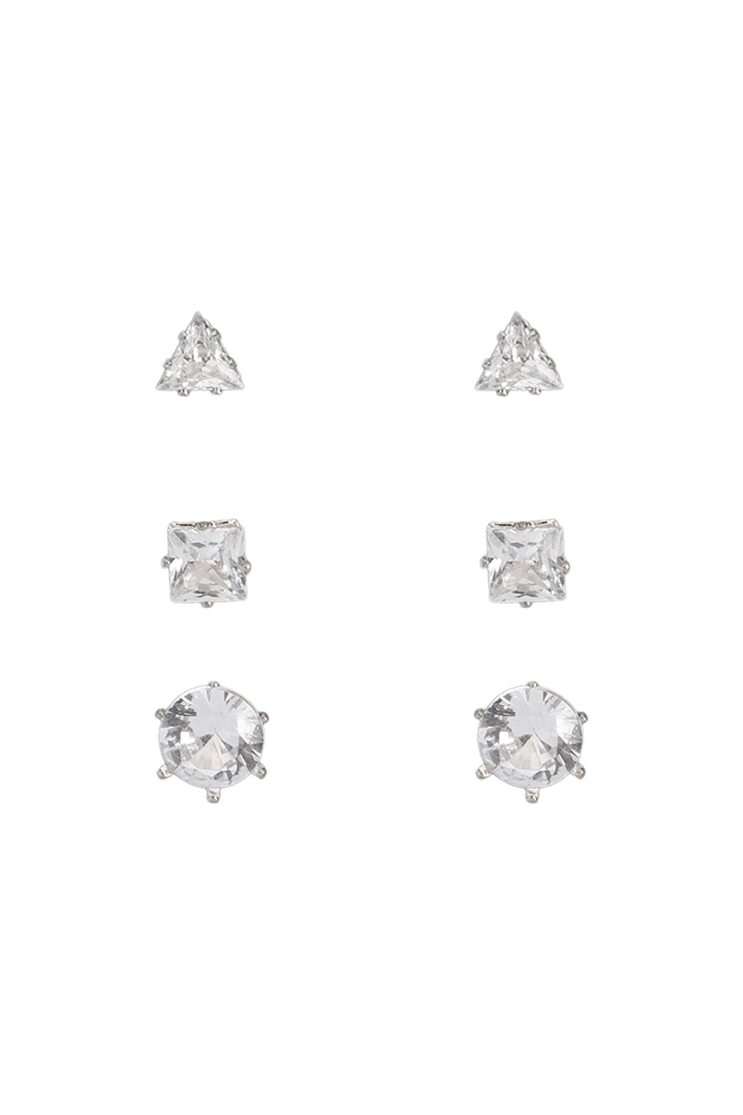 Riah Fashion 3-Pair-Earring - Front Cropped Image