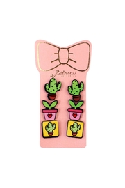 Riah Fashion 3-Pair Stud-Earrings Sets - Front cropped