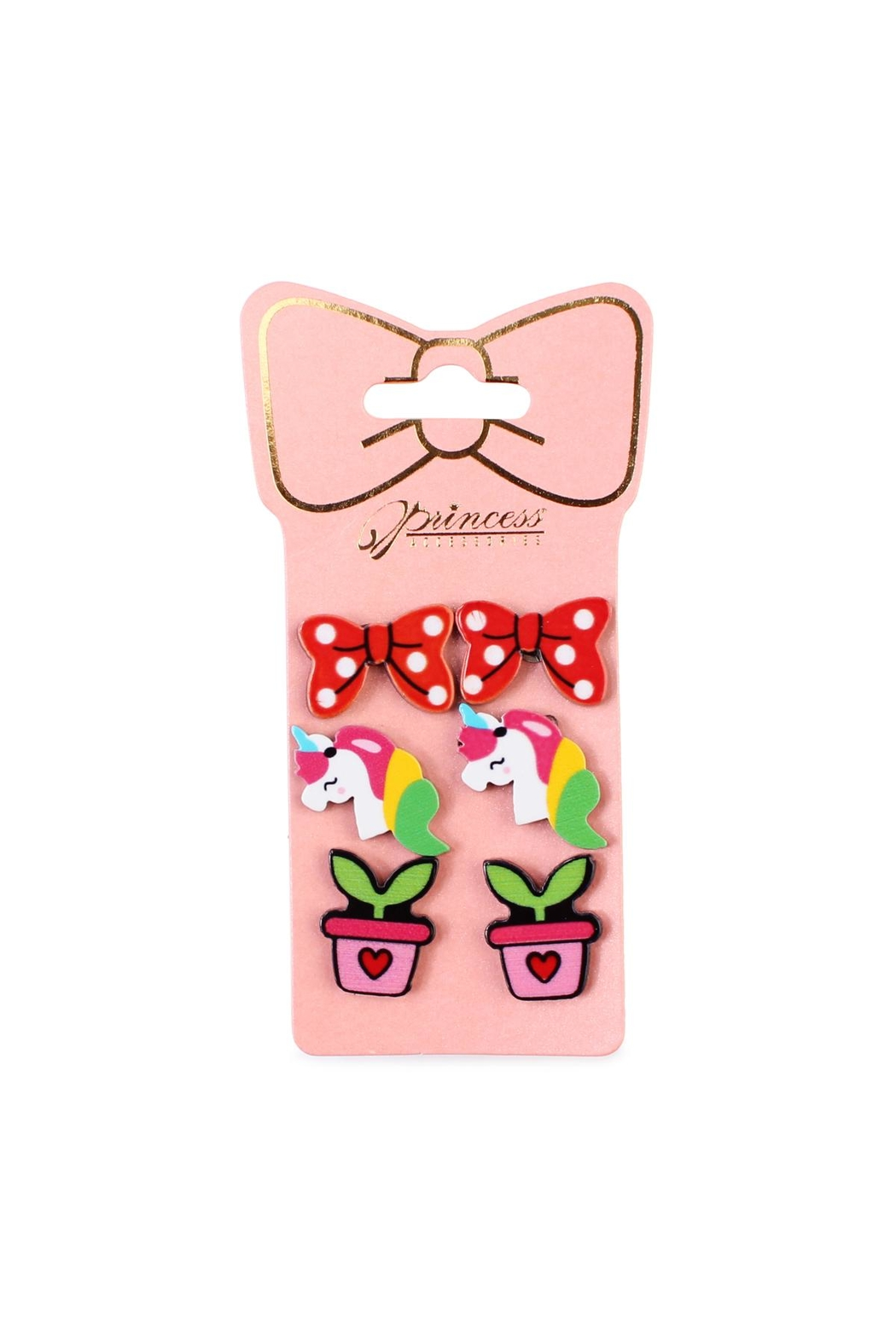 Riah Fashion 3-Pair Stud-Earrings Sets - Front Cropped Image