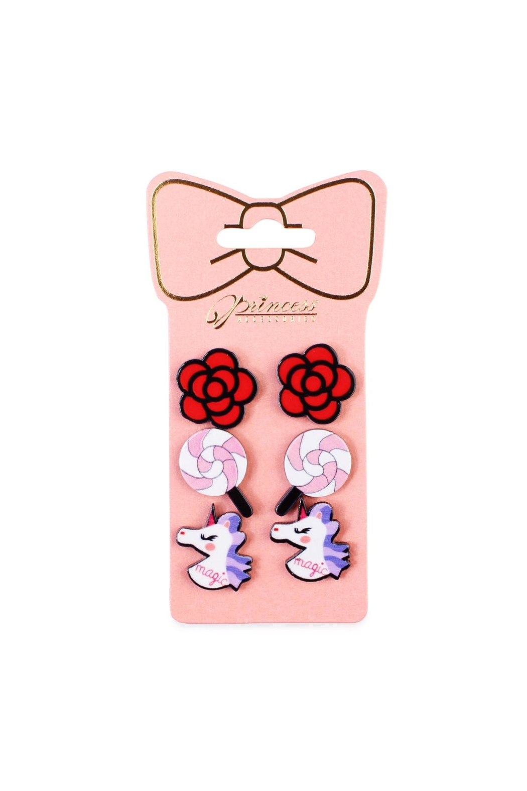 Riah Fashion 3-Pair Stud-Earrings Sets - Main Image