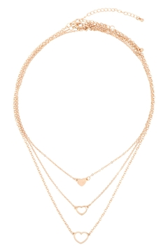 Riah Fashion 3-Set-Layered-Open-Heart-Necklaces - Product List Image