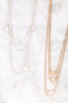 Riah Fashion 3-Set-Layered-Open-Heart-Necklaces - Alternate List Image