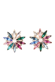 Riah Fashion 30mm Marquise Flower-Earrings - Product Mini Image