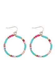 Riah Fashion 35mm Rubber Disc Hook Earrings - Front cropped