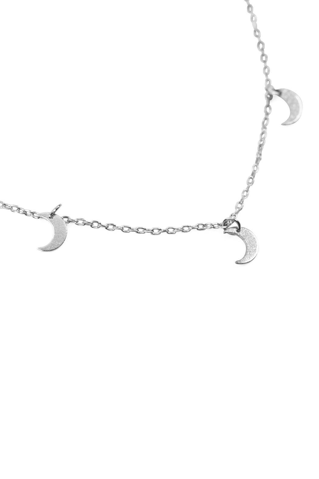 Riah Fashion 5-Dainty-Small-Moon-Necklace - Front Cropped Image
