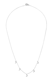 Riah Fashion 5-Dainty-Small-Moon-Necklace - Front full body