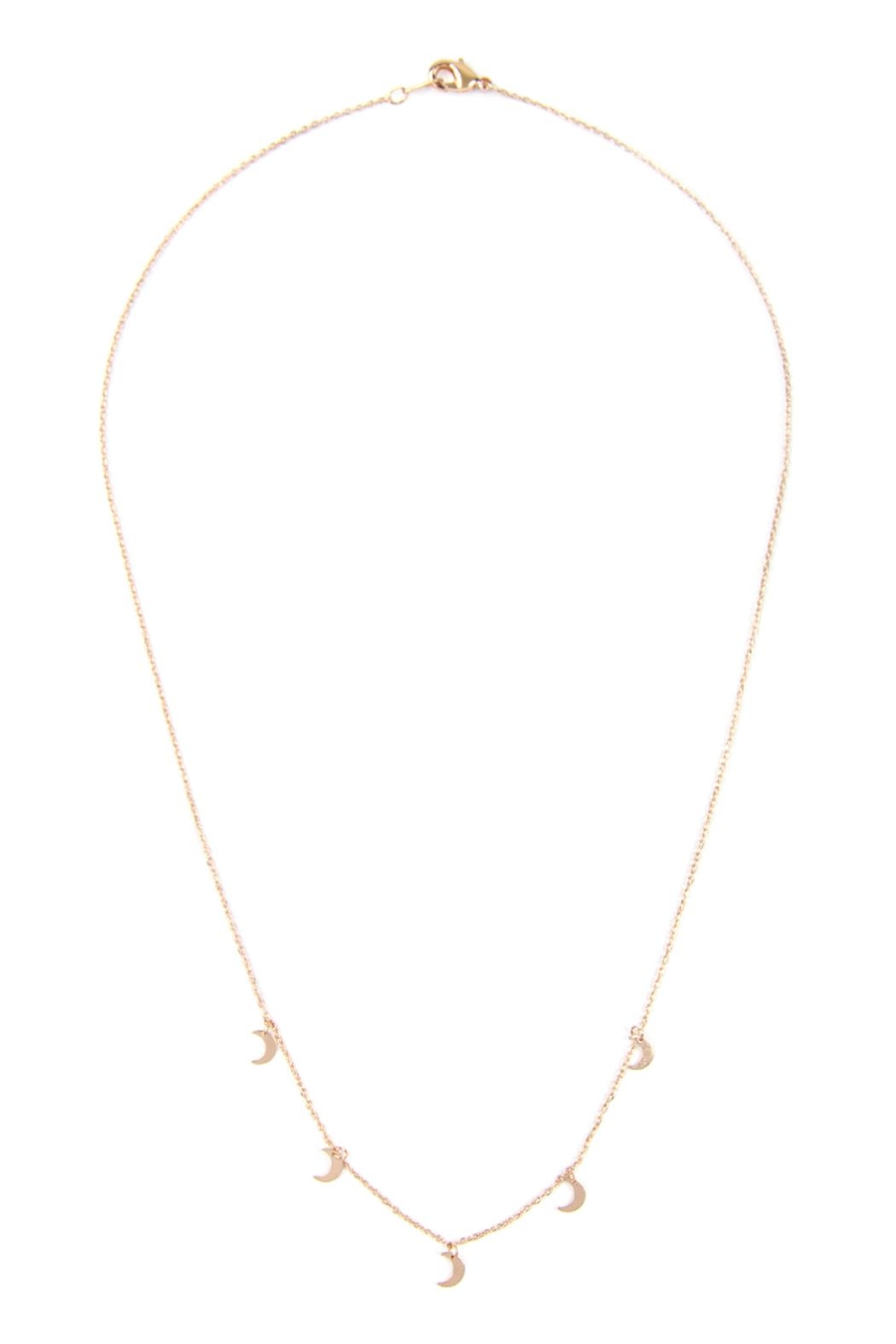 Riah Fashion 5-Dainty-Small-Moon-Necklace - Front Full Image
