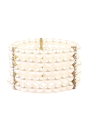 Riah Fashion 5-Line-Pearl Stretch Bracelet - Product Mini Image