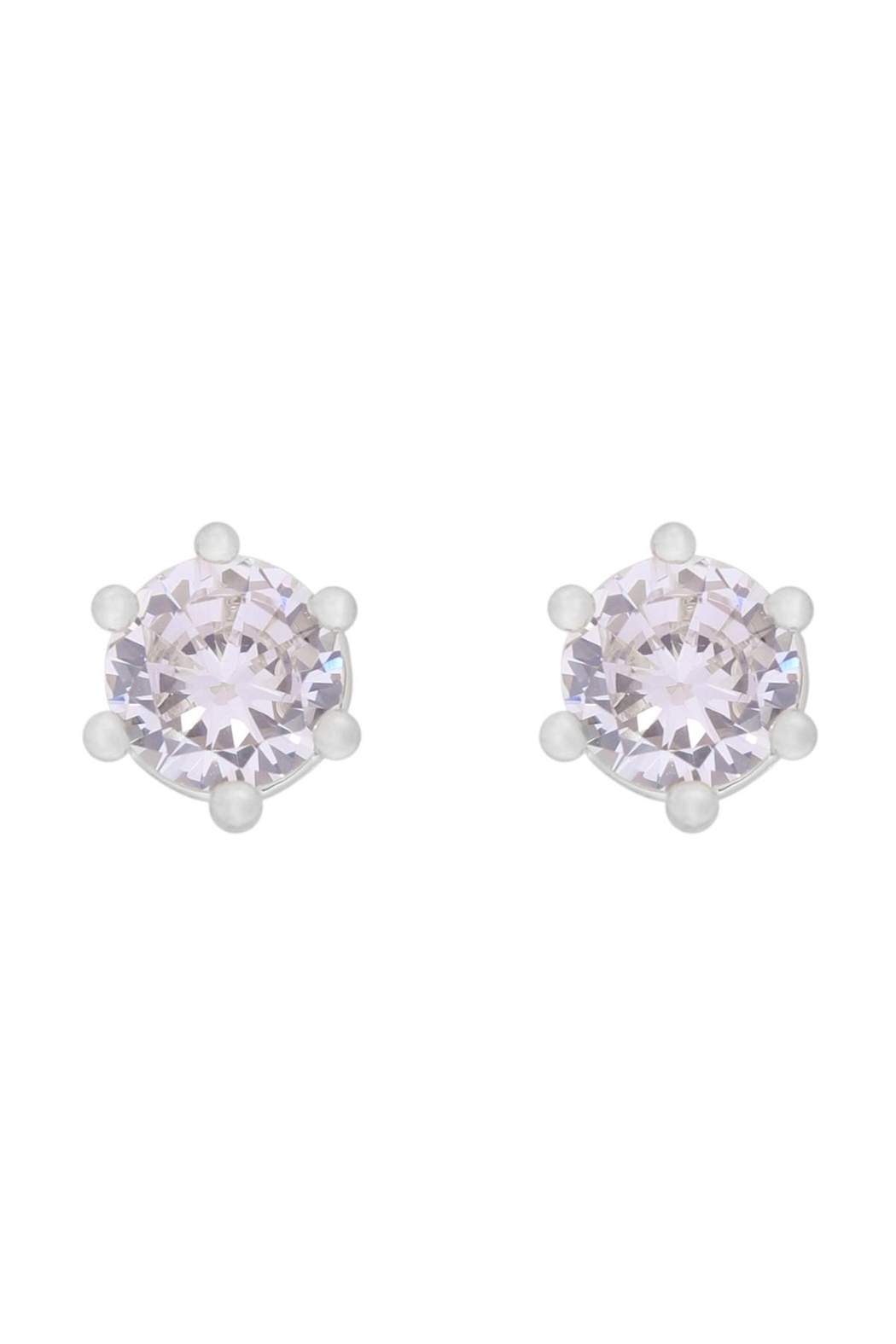 Riah Fashion 5mm-Cubic-Zirconia-Stud-Earrings - Front Cropped Image