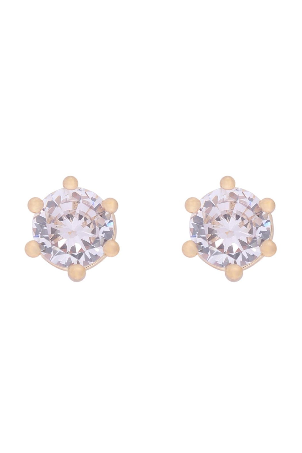 Riah Fashion 5mm-Cubic-Zirconia-Stud-Earrings - Main Image