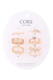 Riah Fashion 6-Set-Assorted-Star-With-Center-Stone-Ring - Product Mini Image