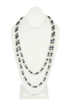 Riah Fashion 60-Inches Glass-Coated Real-Pearl-Necklace - Product List Image