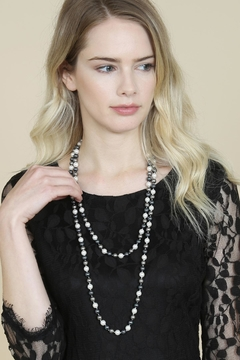Riah Fashion 60-Inches Glass-Coated Real-Pearl-Necklace - Alternate List Image