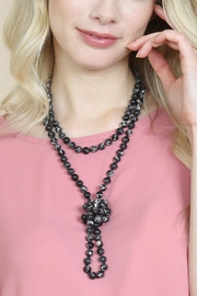 Riah Fashion 60-Inches Marble-Beads Long-Necklace - Back cropped