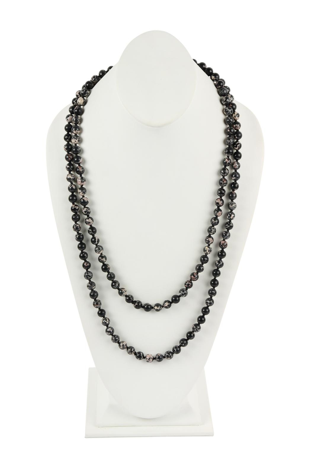 Riah Fashion 60-Inches Marble-Beads Long-Necklace - Main Image