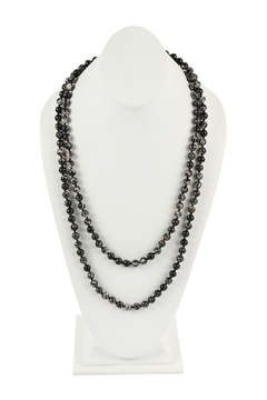 Riah Fashion 60-Inches Marble-Beads Long-Necklace - Product List Image