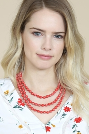 Riah Fashion 60-Inches Marble-Beads Long-Necklace - Side cropped