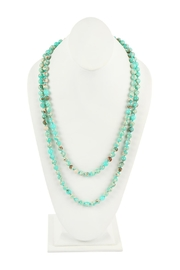 Riah Fashion 60-Inches Marble-Beads Long-Necklace - Front cropped