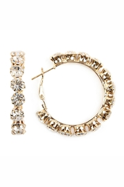 Riah Fashion 6mm Hoop-Earrings With-50mm-Rhinestone - Product Mini Image