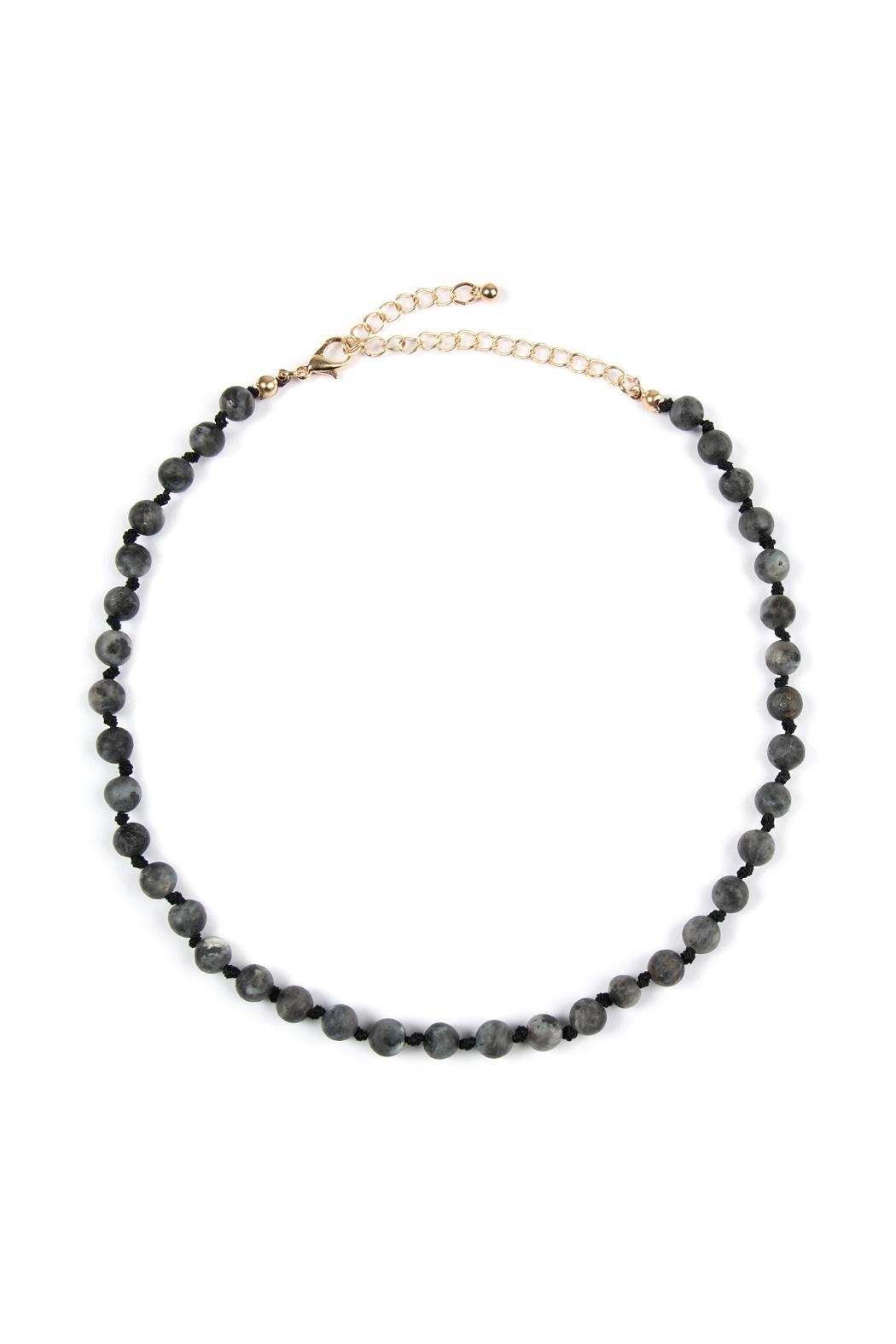 Riah Fashion 6mm Natural-Stone-Necklace - Front Cropped Image
