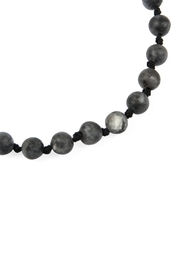 Riah Fashion 6mm Natural-Stone-Necklace - Front full body