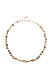 Riah Fashion 6mm Natural-Stone-Necklace - Front cropped