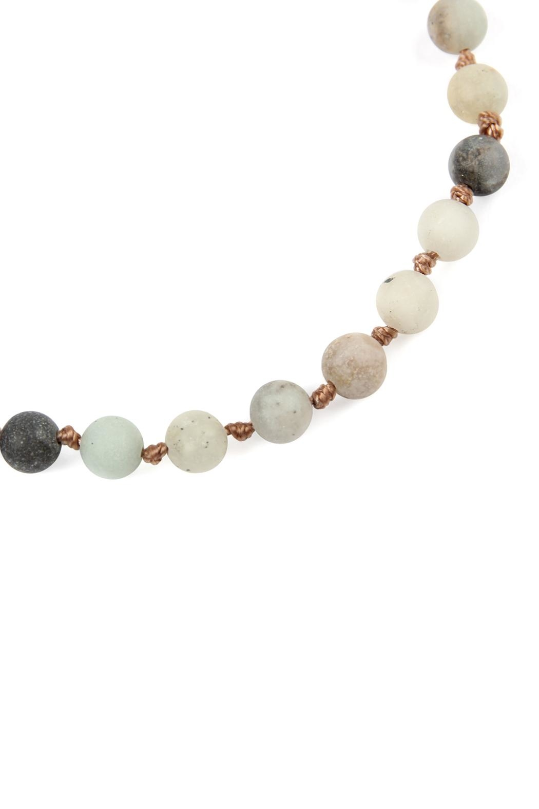 Riah Fashion 6mm Natural-Stone-Necklace - Front Full Image
