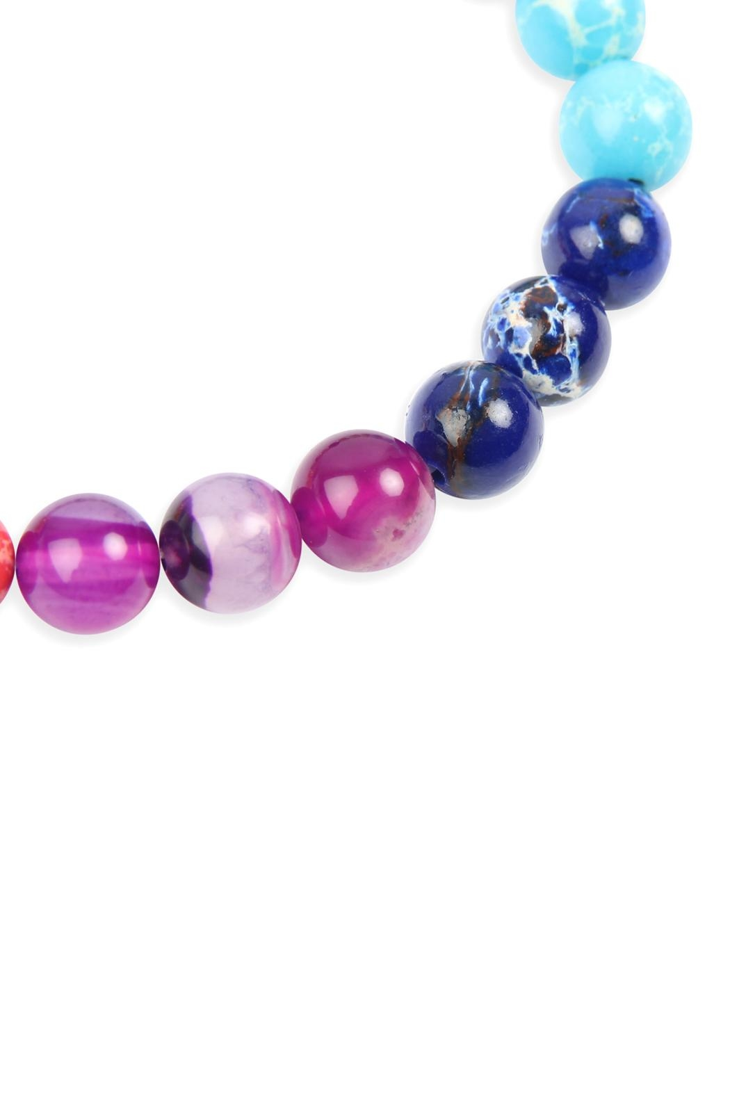 Riah Fashion 8mm Natural Bead Rainbow Color - Side Cropped Image