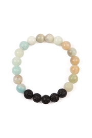 Riah Fashion 8mm Natural-Stone-Bracelet - Front cropped