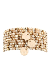 Riah Fashion 9-Line-Glass Beads-Stack-Bracelet - Front cropped