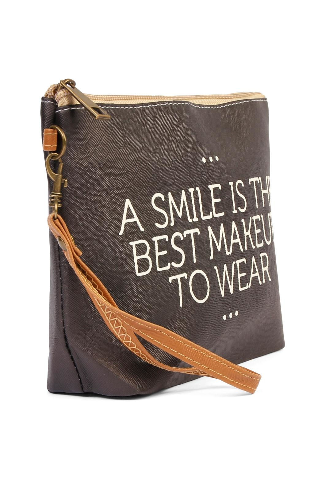 Riah Fashion Smile Cosmetic Bag - Front Full Image