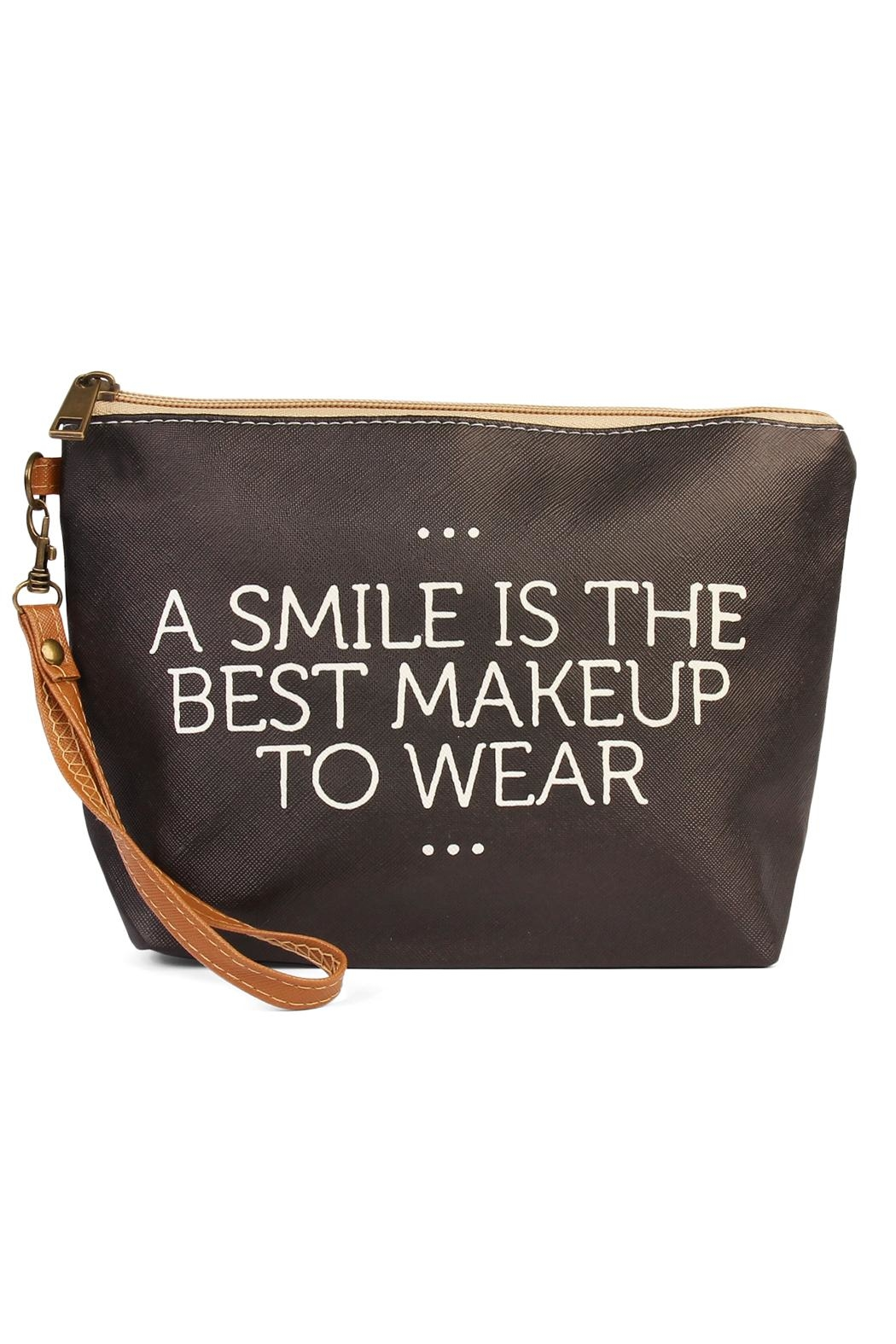 Riah Fashion Smile Cosmetic Bag - Front Cropped Image