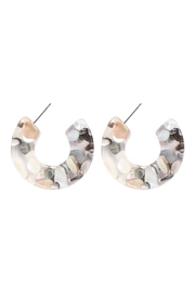 Riah Fashion Abl-Resin-Rounded-Hoop-Earrings - Product Mini Image