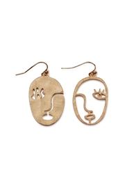 Riah Fashion Abstract Face Earrings - Product Mini Image